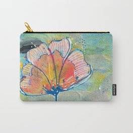 Happy Peachy Flower Carry-All Pouch