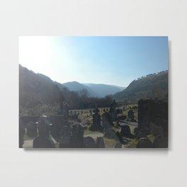Glendalough Graveyard Metal Print