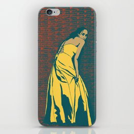 Lady in Yellow Dress iPhone Skin