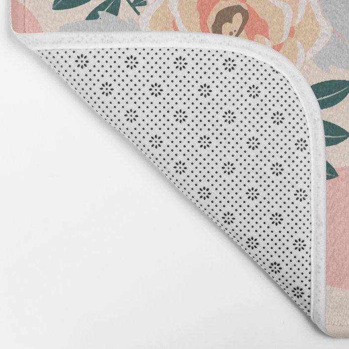 Flamingo Jazz #society6 #decor #pattern Bath Mat