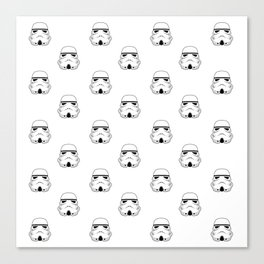 Stormtrooper Helmet  Pattern Canvas Print
