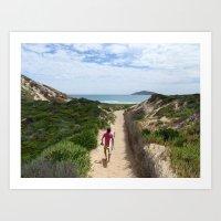 Wandering Surfer Art Print