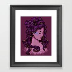 A Mermaid's Hair Framed Art Print