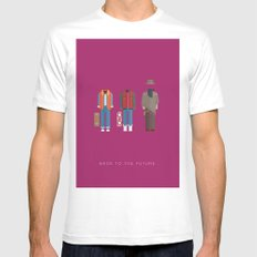 Back To The Future | Famous Costumes MEDIUM White Mens Fitted Tee