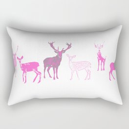 oh deer pink II Rectangular Pillow
