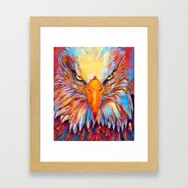 Bald Eagle Watercolor Framed Art Print