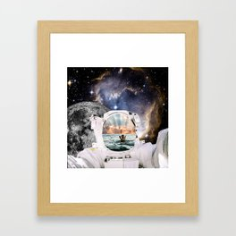 The Galaxy Is Always Brighter On The Other Side, 2018 Framed Art Print