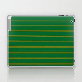 Emerald Green and Honey Gold Thin Stripes Laptop & iPad Skin