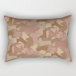 Corgi Terra-cotta Camo Rectangular Pillow