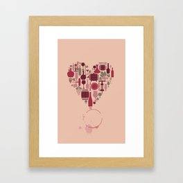 Love quotes Framed Art Print