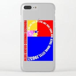 Fibonacci Numbers Typography,  Golden Ratio Clear iPhone Case
