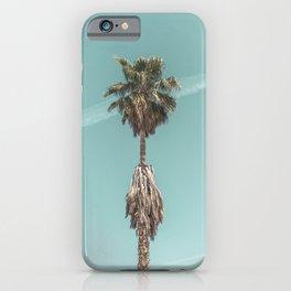 Malibu Beach Palm // California Beach Vibes Teal Ocean Sky Jetstream Photograph iPhone Case