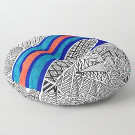 Organized Chaos - Wave Floor Pillow