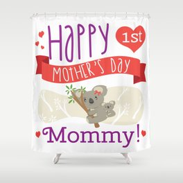 Happy Mothers Day Message Mom Grandma Koala Gift Shower Curtain