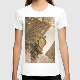 Reflective Clock In Pittsburgh T-shirt