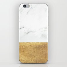 Color Blocked Gold & Marble iPhone Skin
