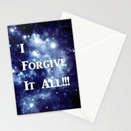 Blue Galaxy : I Forgive It All Stationery Cards