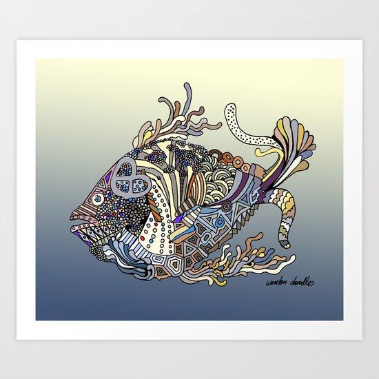 Dragon Fish (Color) Art Print