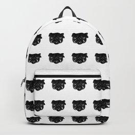 Black and white Pug Dog modern Backpack