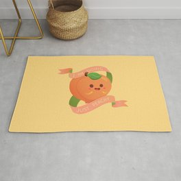 I Am Doing Just Peachy Rug