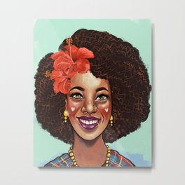 Love your Curls Metal Print