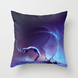 We are dancing in our chains Throw Pillow