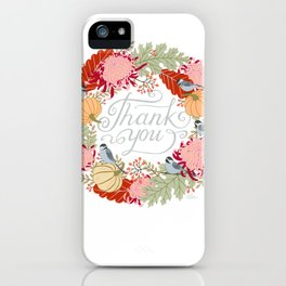 Thanksgiving thank you card iPhone Case