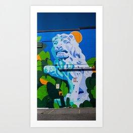 Lion - Street Art - Vancouver Art Print