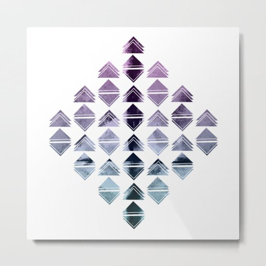 Rhombus triangles Metal Print