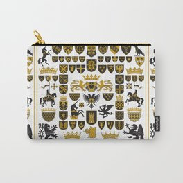 HERALDRY Crests and Symbols Carry-All Pouch