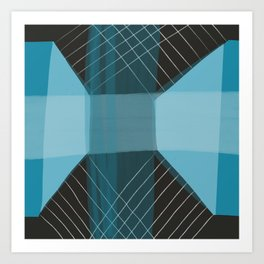 Blue Architecture 3 Art Print