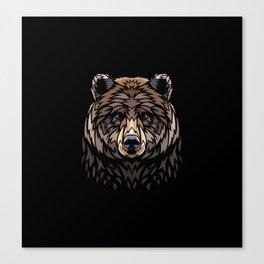 Tribal Frontal bear Canvas Print
