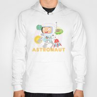 astronaut Hoodies featuring Astronaut by Alapapaju