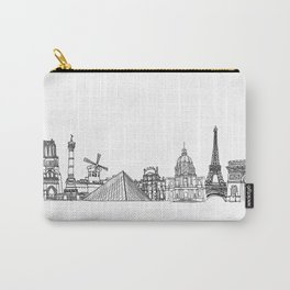 Paris Landmarks by the Downtown Doodler Carry-All Pouch