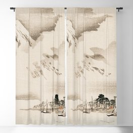 View Of Mount Fuji Traditional Japanese Landscape Blackout Curtain