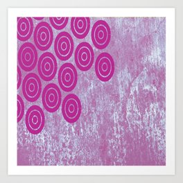 purple circles Art Print