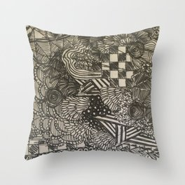 Scribe II Throw Pillow