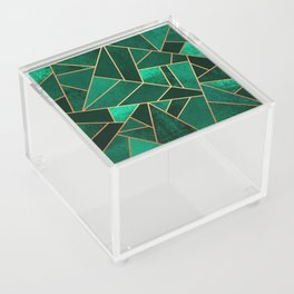 Emerald and Copper Acrylic Box