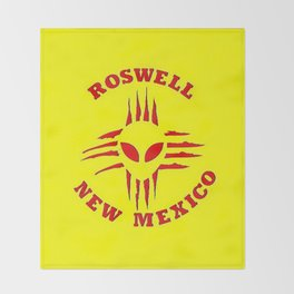 Roswell Alien Zia Throw Blanket