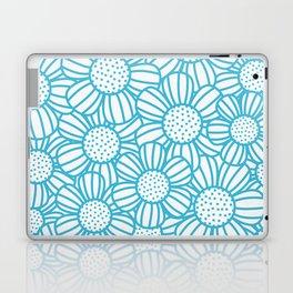 Field of daisies - teal Laptop & iPad Skin