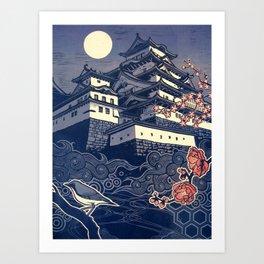 Himeji-jo Art Print