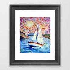 Sailing Okanagan Framed Art Print