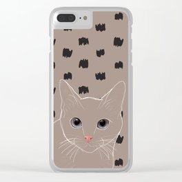 Cat stare Clear iPhone Case