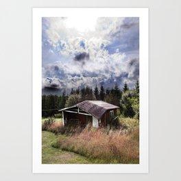 Broken house Art Print