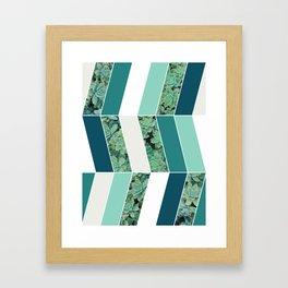 Teal Herringbone #society6 #teal #succulent Framed Art Print