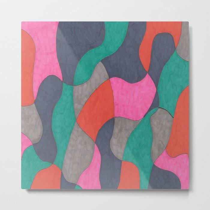 Interlocking Colors Metal Print