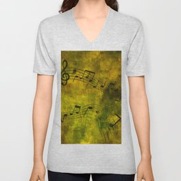 Abstract music 18C Unisex V-Neck