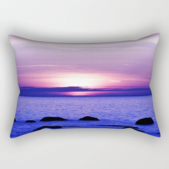 Dusk on the Saint-Lawrence Rectangular Pillow