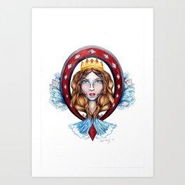 Nautical Diamond Queen Art Print
