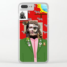 Wes Anderson illustration Clear iPhone Case